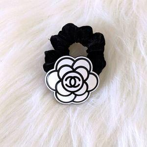 Designer Black velvet scrunchie